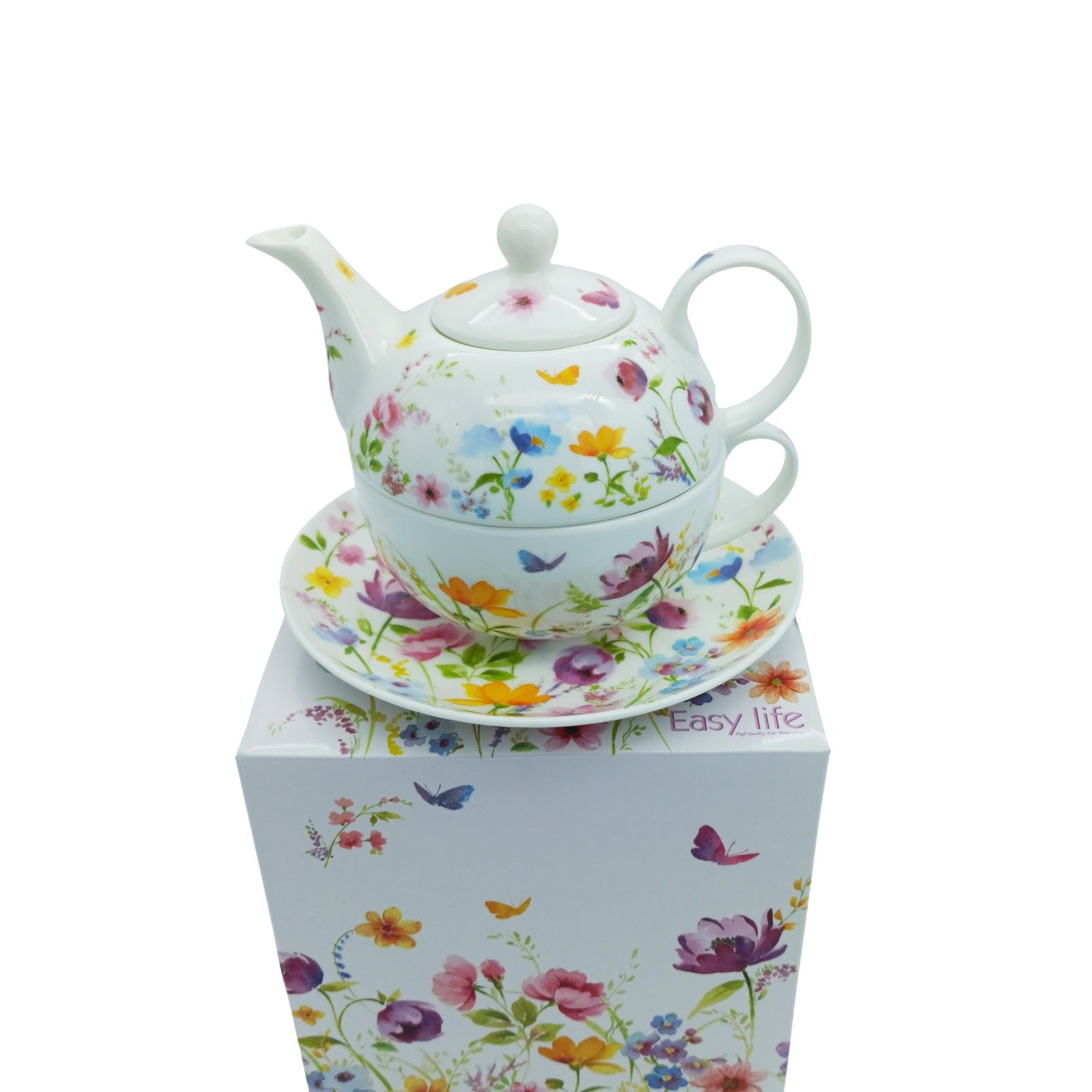 Tea For One In Porcellana Bone China In Scatola Regalo Easy Life