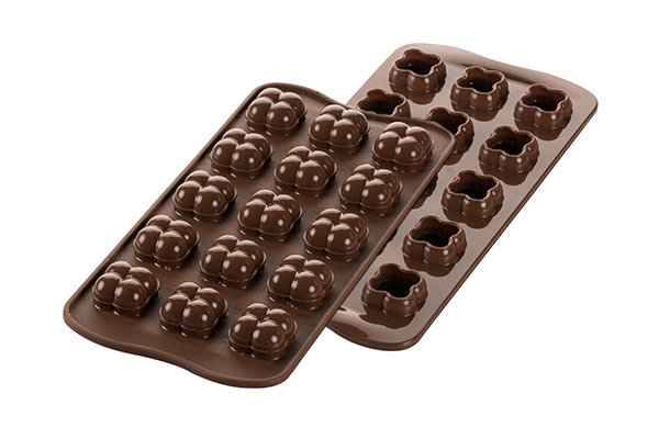 SCG51 3D – STAMPO IN SILICONE N.15 CHOCO GAME 22X22 H 20 MM