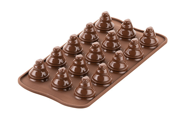 SCG054 3D – STAMPO IN SILICONE N.15 CHOCO TREES ø28 H 30 MM